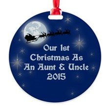 1St Christmas As An Aunt And Uncle 2015 Ornament