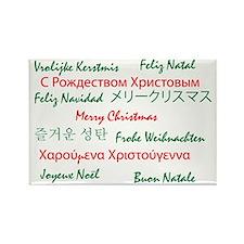 Christmaslanguge001 Rectangle Magnet