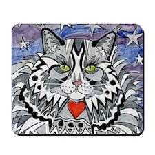 cat-gray-tabby-heart-stars-4-5.25 Mousepad