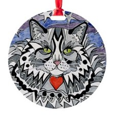 cat-gray-tabby-heart-stars-4-5.25 Ornament
