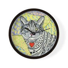 cat-gray-tabby-heart-colors-1-5.25 Wall Clock