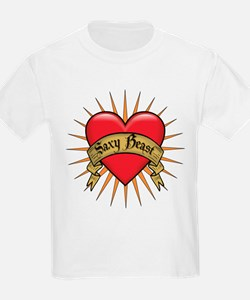 Saxy Beast Heart Tattoo Kids T-Shirt
