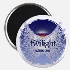 breaking dawn with wings and horizon copy Magnet