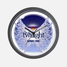 breaking dawn with wings and horizon co Wall Clock