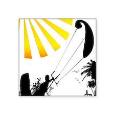 "kiteBoarder_Tee-1 Square Sticker 3"" x 3"""