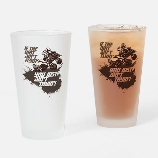 dirt flyin atv Drinking Glass