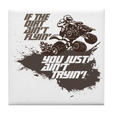dirt flyin atv Tile Coaster
