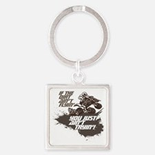 dirt flyin atv Square Keychain