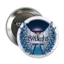 """breaking dawn wings and horizon teal  2.25"""" Button"""