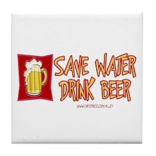 Drink Beer Tile Coaster