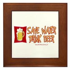 Drink Beer Framed Tile
