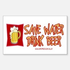 Drink Beer Rectangle Decal