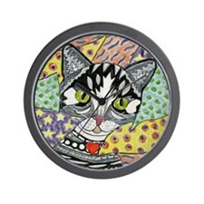 cat-gray-tabby-heart-colors-2-5.25 Wall Clock