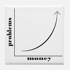 moneyproblems Tile Coaster