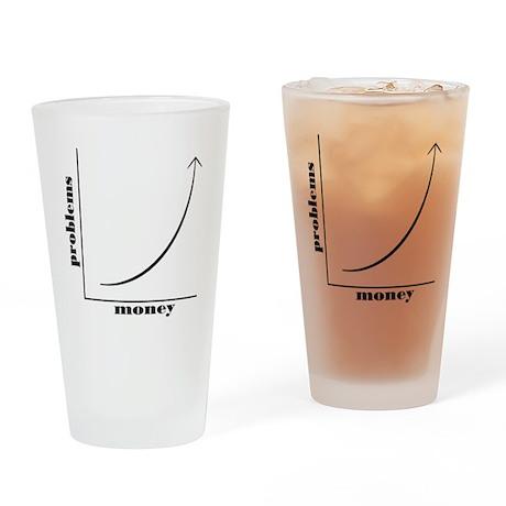 moneyproblems Drinking Glass