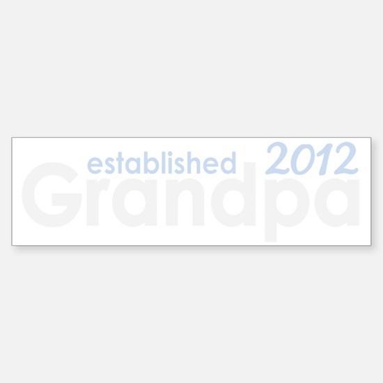 grandpa established 2012_dark Sticker (Bumper)