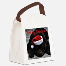 merry newfmas Canvas Lunch Bag