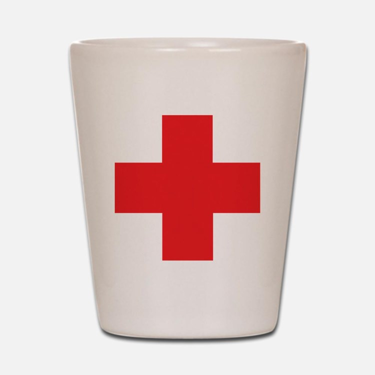 first_aid Shot Glass