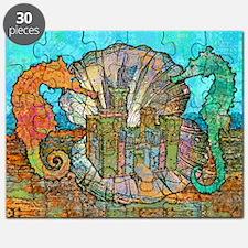 seahorseCastleSquare Puzzle