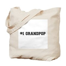 #1 Grandpop Tote Bag