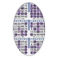 Jackpot Bingo Cards shirt 2 Decal