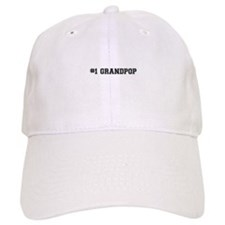 #1 Grandpop Baseball Cap