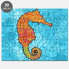 seahorseOrangeSquare Puzzle