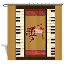 Piano Keys Federal Piano square Shower Curtain