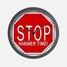 Stop, Hammer Time! Wall Clock