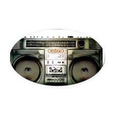 boombox Oval Car Magnet