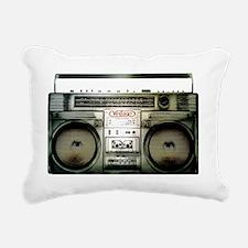 boombox Rectangular Canvas Pillow
