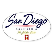 San Diego Script W Decal