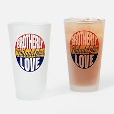 Philadelphia Vintage Label B Drinking Glass