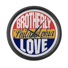 Philadelphia Vintage Label B Large Wall Clock