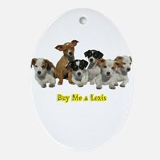 PUPPY 1160 Buy Me a Lexis Oval Ornament