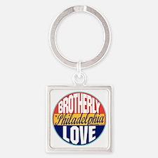 Philadelphia Vintage Label W Square Keychain