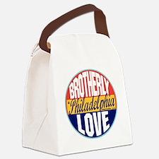 Philadelphia Vintage Label W Canvas Lunch Bag