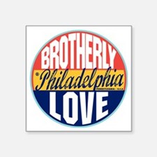 "Philadelphia Vintage Label  Square Sticker 3"" x 3"""