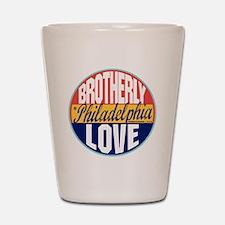 Philadelphia Vintage Label W Shot Glass