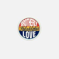 Philadelphia Vintage Label W Mini Button