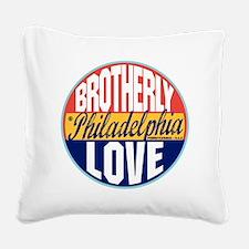 Philadelphia Vintage Label W Square Canvas Pillow