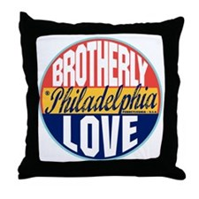 Philadelphia Vintage Label W Throw Pillow