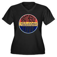 Philadelphia Women's Plus Size Dark V-Neck T-Shirt
