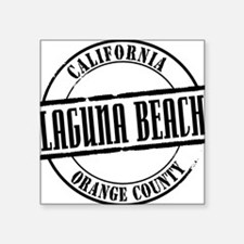 "Laguna Beach Title W Square Sticker 3"" x 3"""