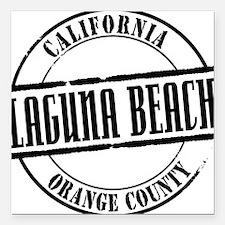 "Laguna Beach Title W Square Car Magnet 3"" x 3"""