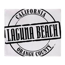 Laguna Beach Title W Throw Blanket