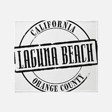 Laguna Beach Title W Throw Blanket