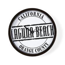 Laguna Beach Title W Wall Clock