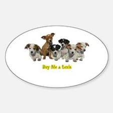 PUPPY 1160 Buy Me a Lexis Oval Decal