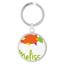 Melissa-the-big-fish Round Keychain